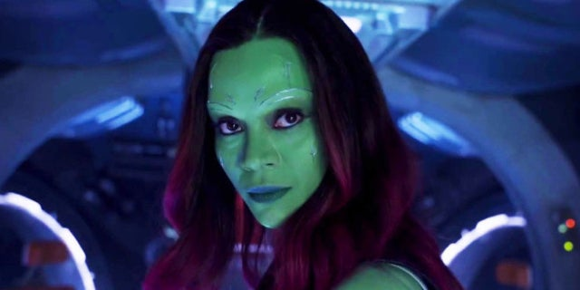 Guardians of the Galaxy 2 Gamora Face Mask Photo