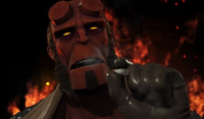 Hellboy is a Dark Horse in Injustice 2's latest DLC roster