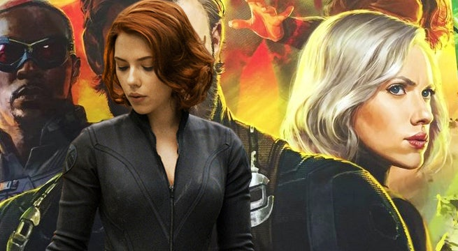 Scarlett Johansson Spotted With Giant Back Tattoo on 'Avengers 4' Set