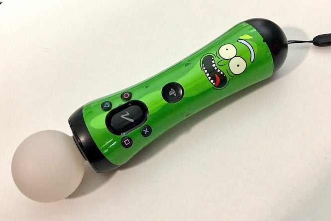 This Pickle Rick Playstation Move Decal Is The Stuff Of Legend