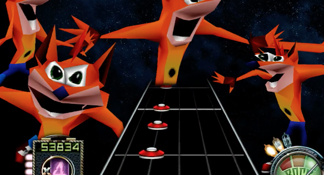 Someone Made A Guitar Hero Song With The Crash Bandicoot Dank Meme