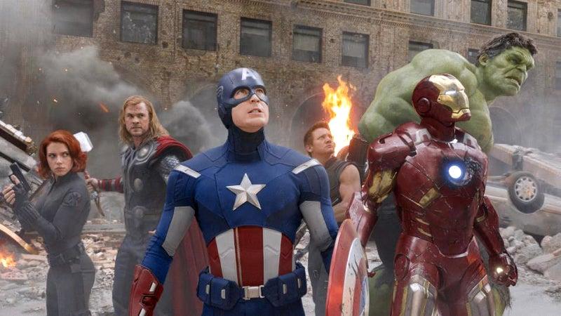 The Avengers 1 Team Shot Scene