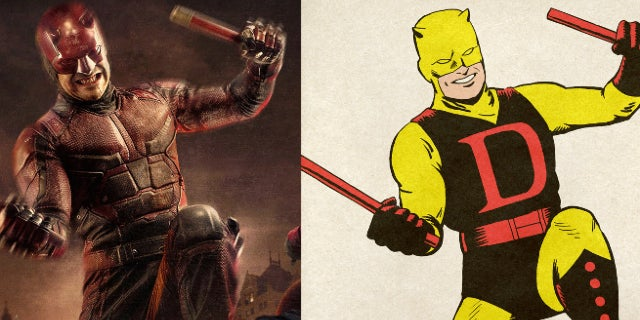 The Defenders MCU vs Marvel Comics Costume