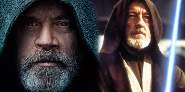 the last jedi luke skywalker obi wan kenobi