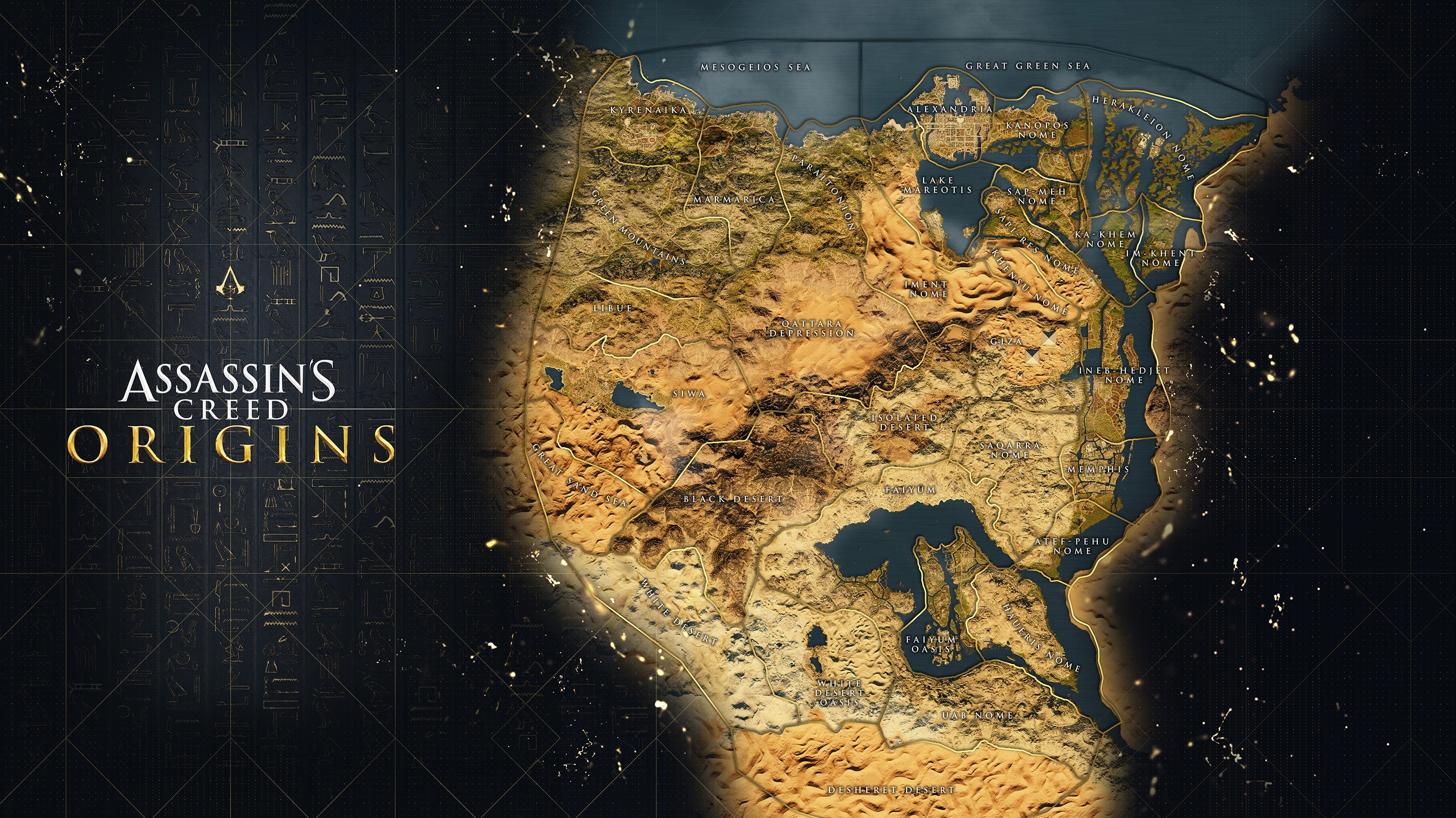 Assassins creed origins reveals its full map which dwarfs past click for full size image gumiabroncs