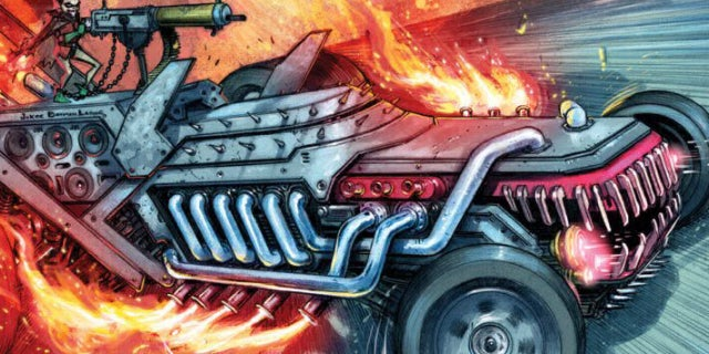 dc metal the batman who laughs laughmobile batmobile