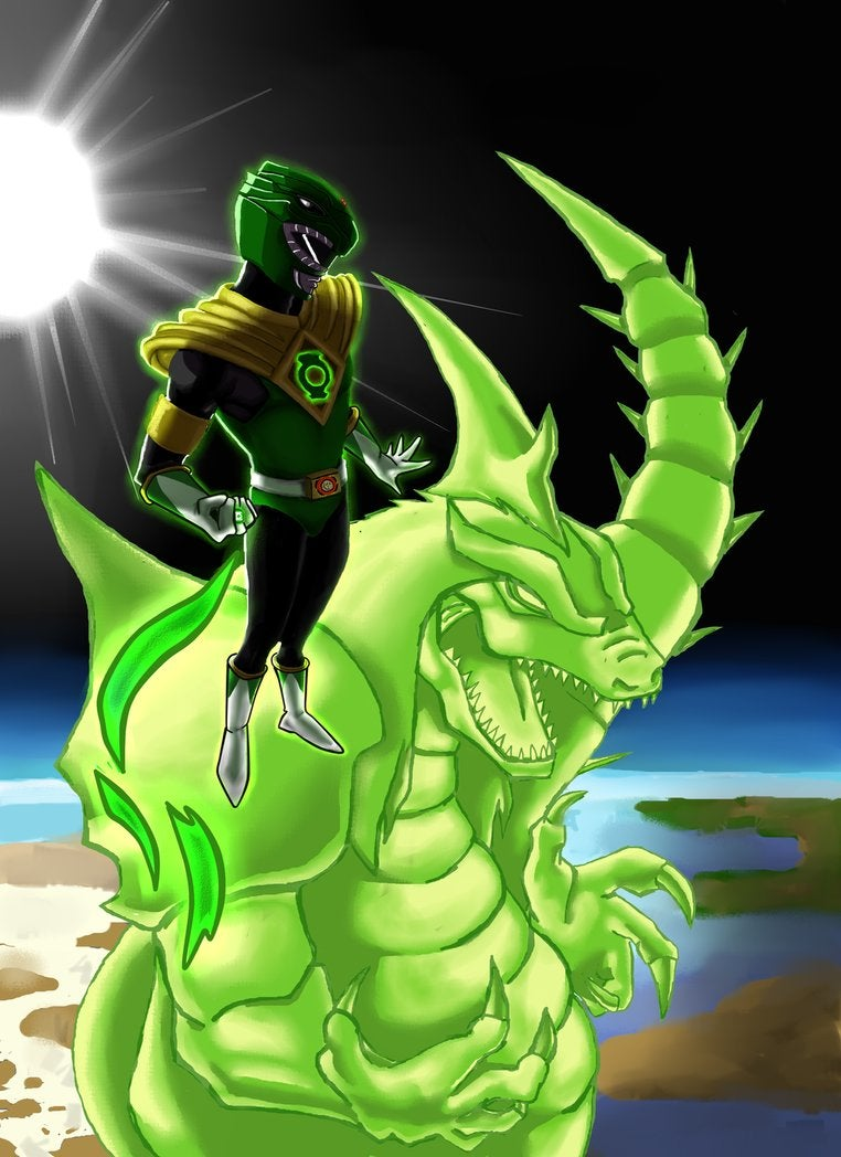 The Green Ranger Commands A Green Lantern Dragonzord In