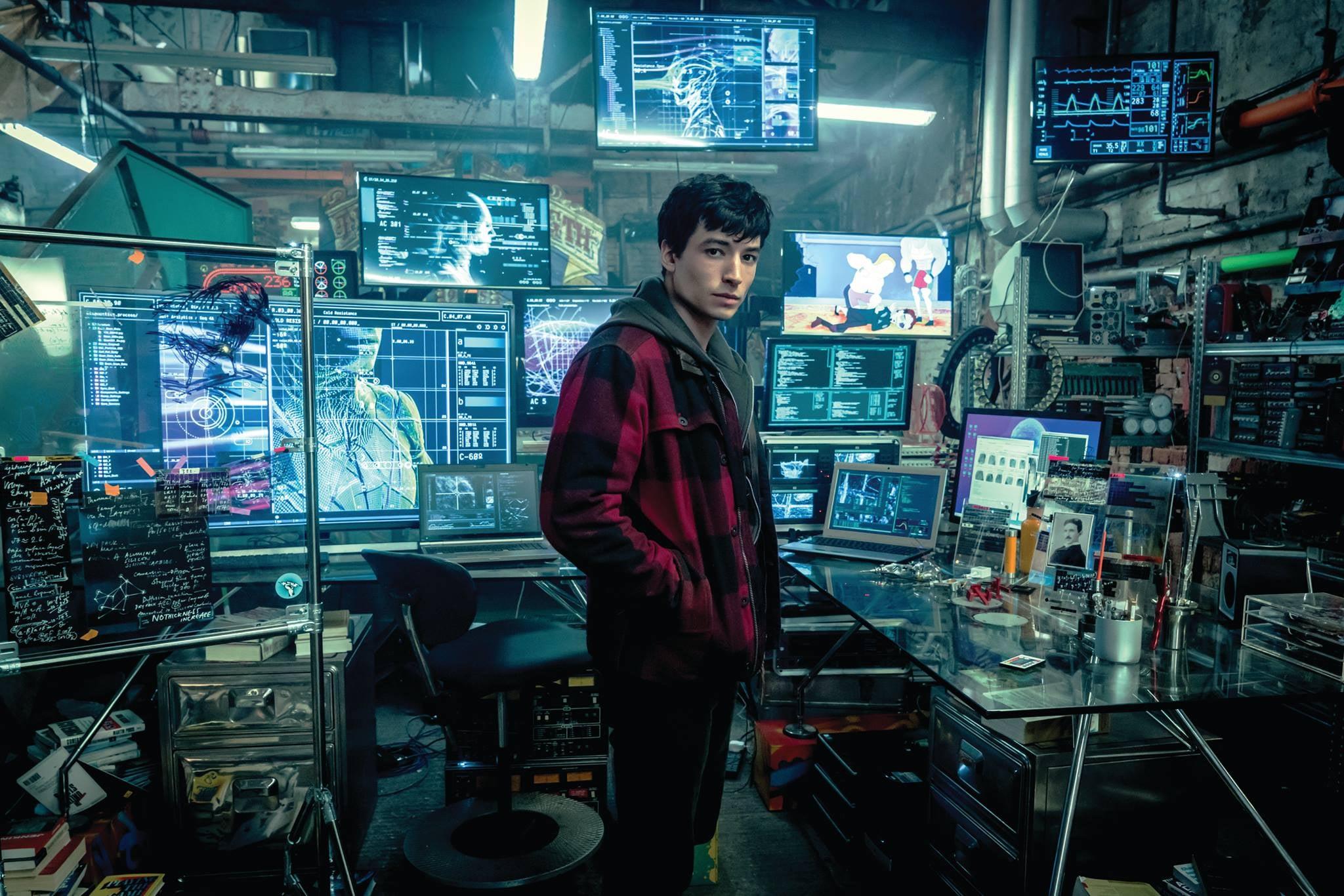 Justice League Movie Images Flash Cave HQ
