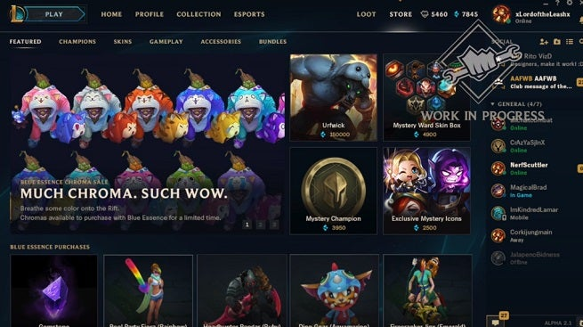 League of Legends Blue Essence Store
