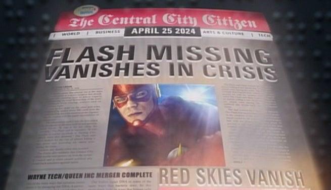The Flash Crisis Newspaper Headline
