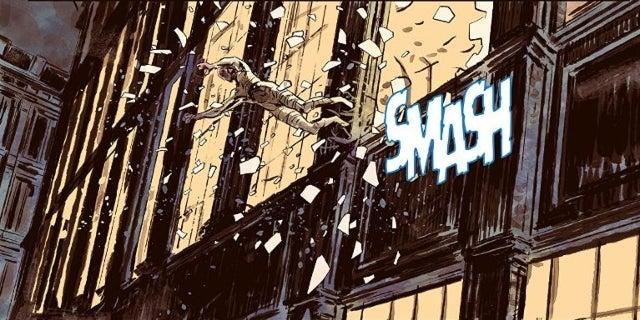 Comic Book Thief Leaps Through Window