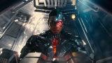 Cyborg in Batmobile in Justice League Hi-Res Image