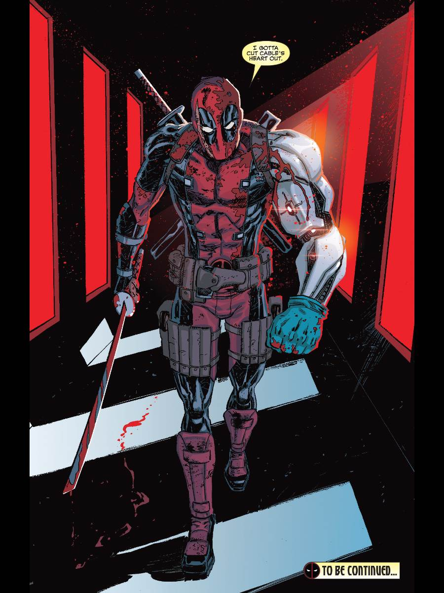 Deadpool with Cable's arm