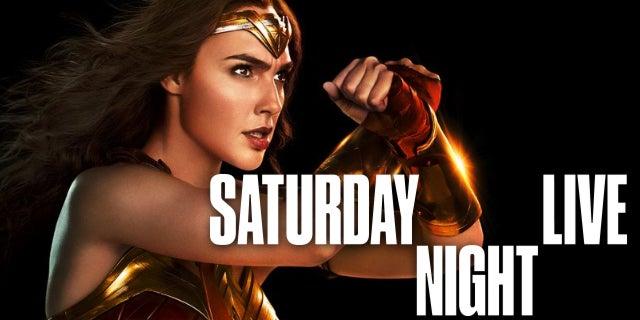 gal gadot wonder woman saturday night live justice league
