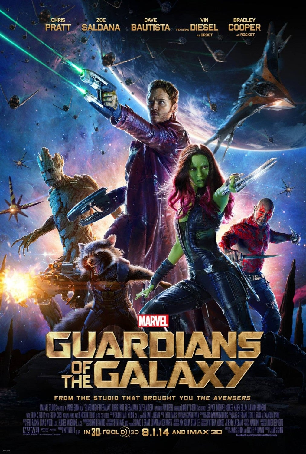 Guardians of the Galaxy Movie Poster - Marvel Cinematic Universe