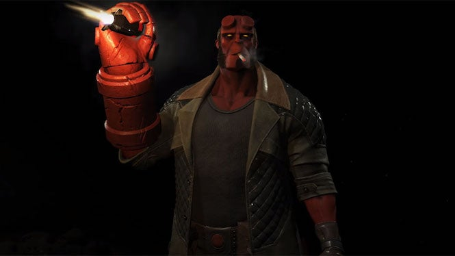 Check out Hellboy in this Injustice 2 gameplay video