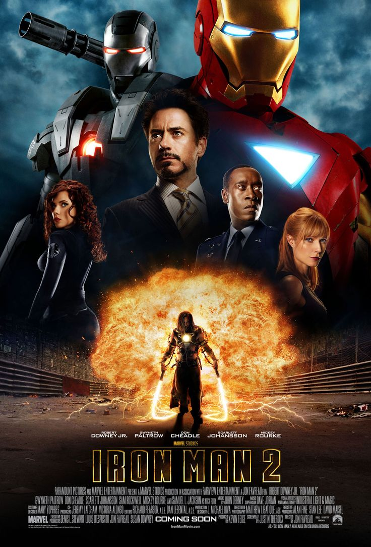 Iron Man 2 Movie Poster - Marvel Cinematic Universe