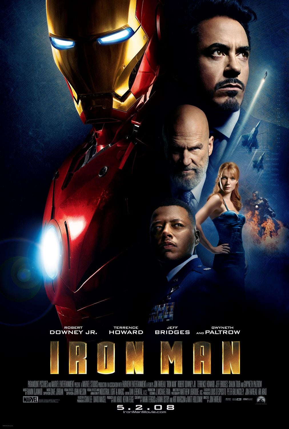 Iron Man Movie Poster - Marvel Cinematic Universe