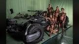 Justice League Amazons Batmobile BTS Photo