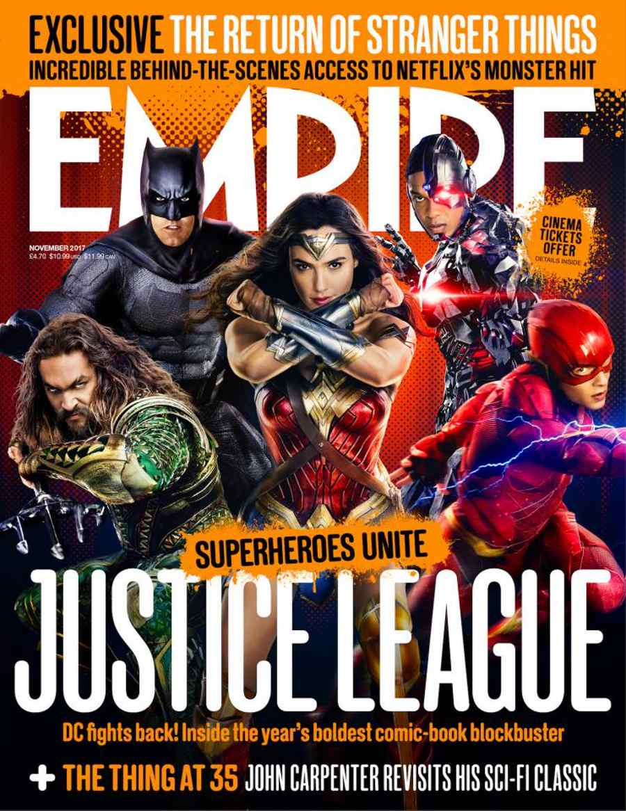 Justice League Empire Magazine Cover