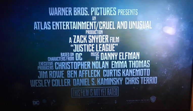 Justie League Chris Nolan Executive Producer