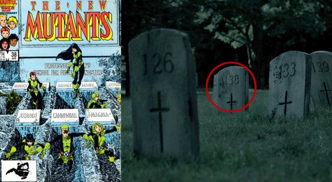 new mutants cover graveyard