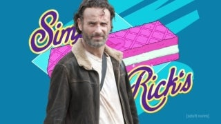 Rick and Morty The Walking Dead simple rick