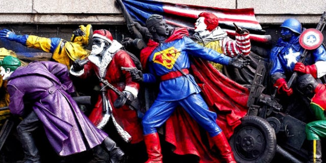Russia Is Mad At Bulgarians For Painting Monuments As Superheroes