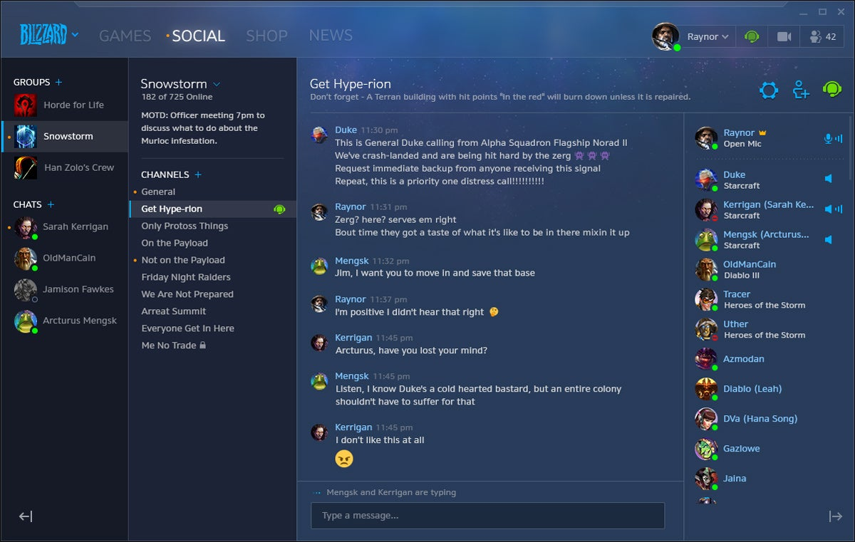 blizzard officially unveils new social features profiles group