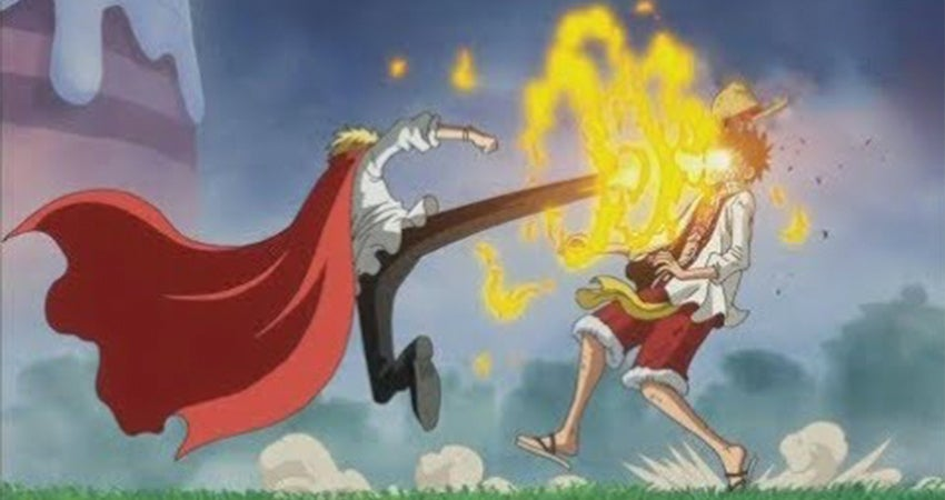 luffy meet his father episode