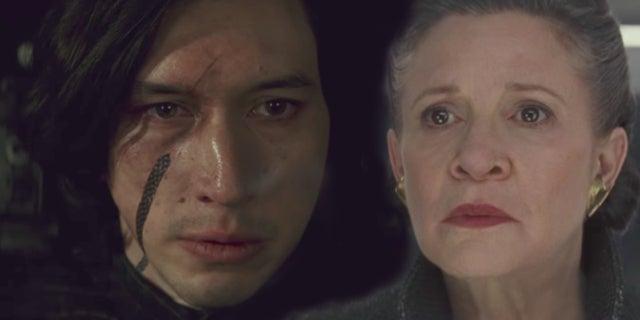 Star Wars Last Jedi Kylo Ren Kills Leia Dies