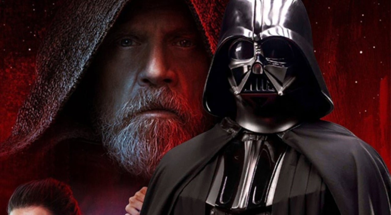 star wars' fans are seeing darth vader in 'the last jedi' poster