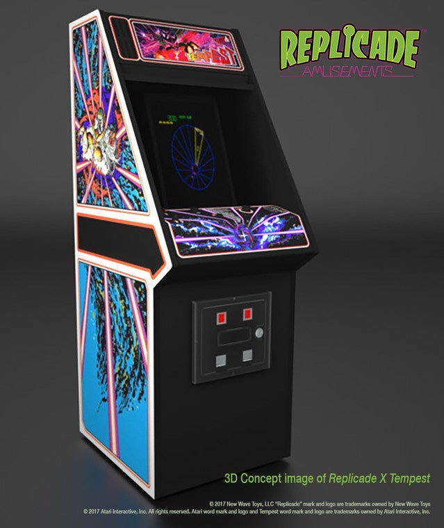 Replicade Working On A Mini Atari Tempest Game For Your