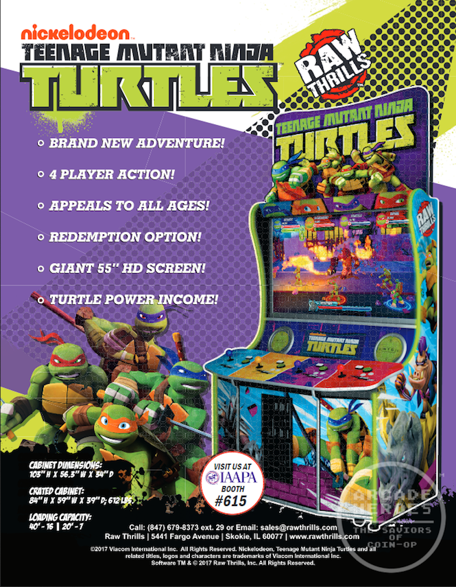 The Teenage Mutant Ninja Turtles Are Returning To The Arcade For The