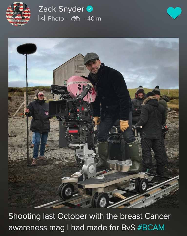 zack snyder justice league bts