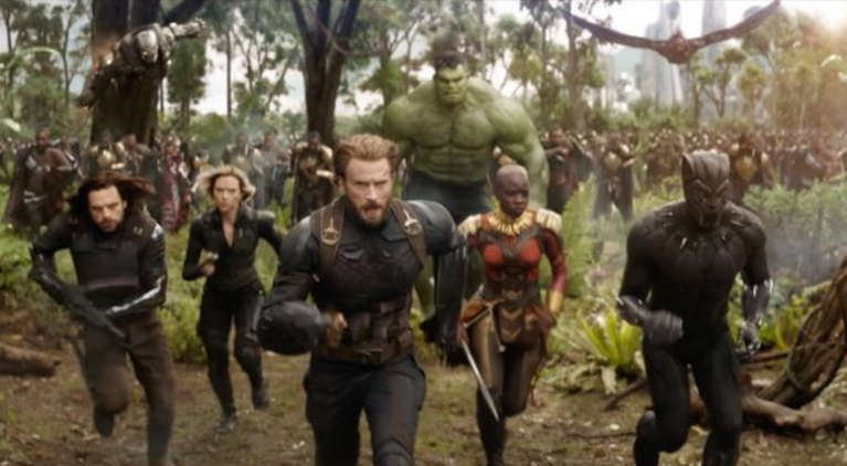 Avengers Infinity War Captain America Hulk Black Panther