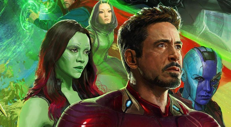 Avengers Infinity War Trailer SDCC Footage Differences- Iron Man and Guardians