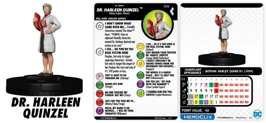 DC HeroClix HQGG 026 Dr Harleen Quinzel Figure preview