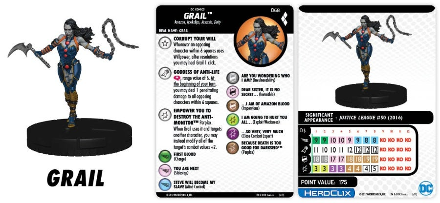 DC HeroClix HQGG 068 Grail Figure preview