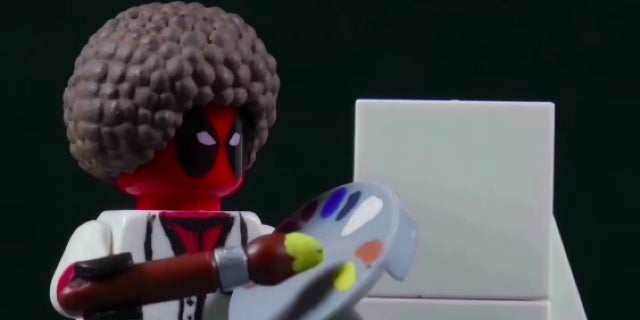 deadpool lego bob ross