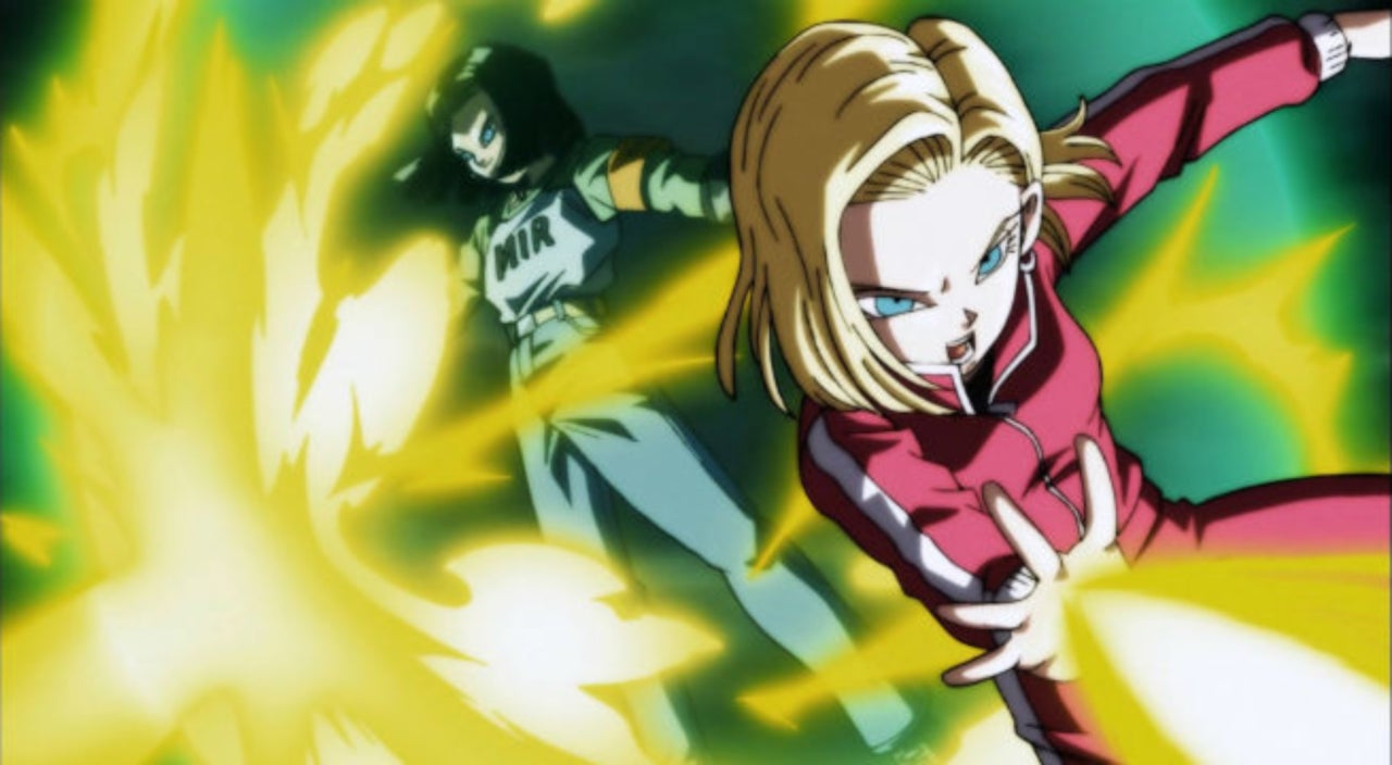 Image result for android 17 and 18 vs ribrianne