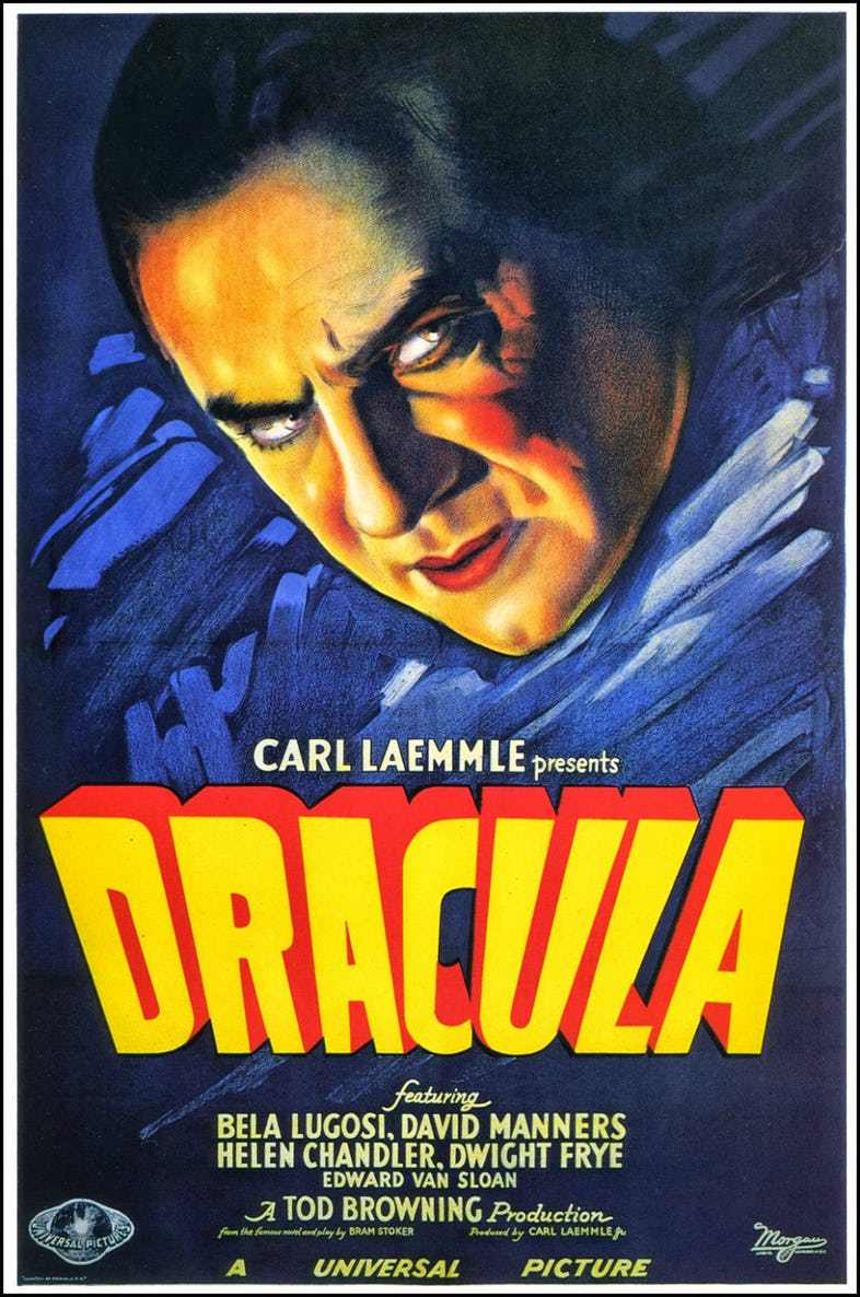 dravula movie poster 1931 bela lugosi