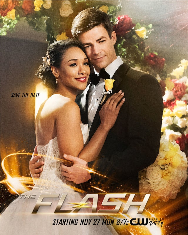 the flash barry and iris s wedding poster released