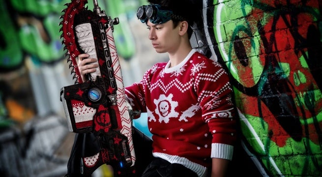 The Gears Of War Ugly Christmas Sweater Comes With A Festive