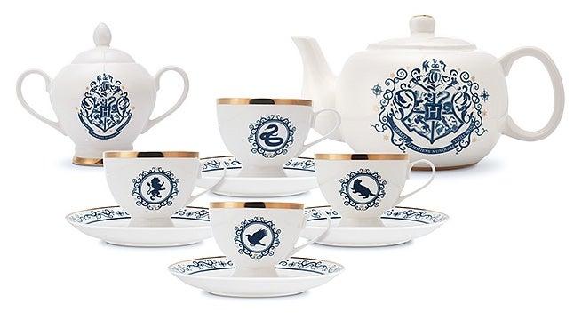 Harry Potter Bone China Tea Set Has A Cup For Each House