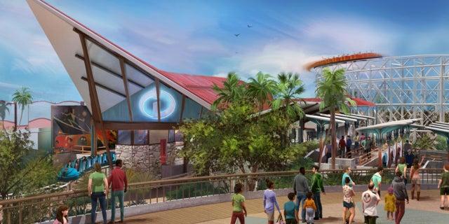 incredibles roller coaster disney pixar