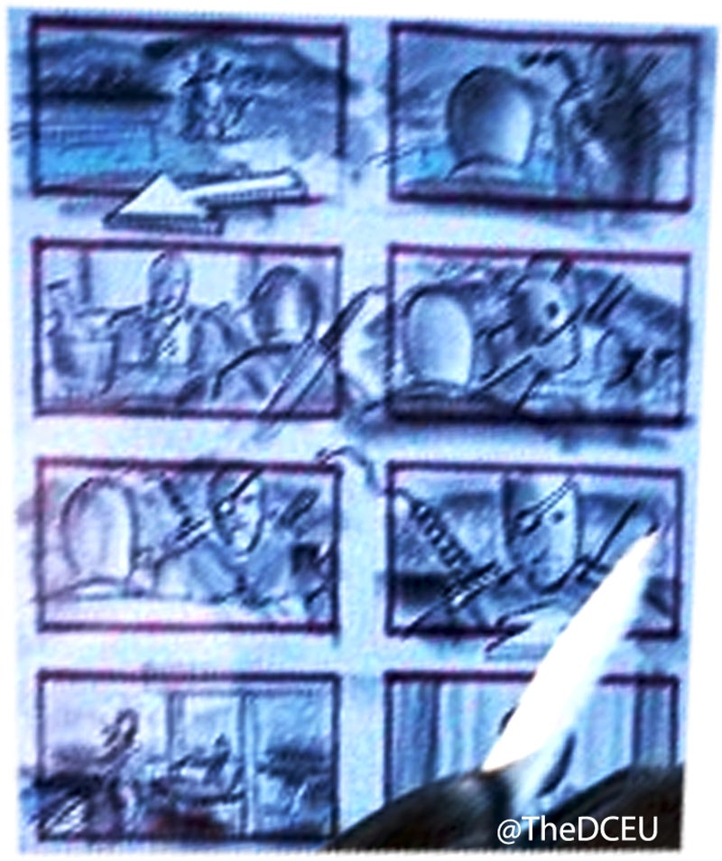 Justice League Storyboard Spoils Deathstroke Post Credits Scene