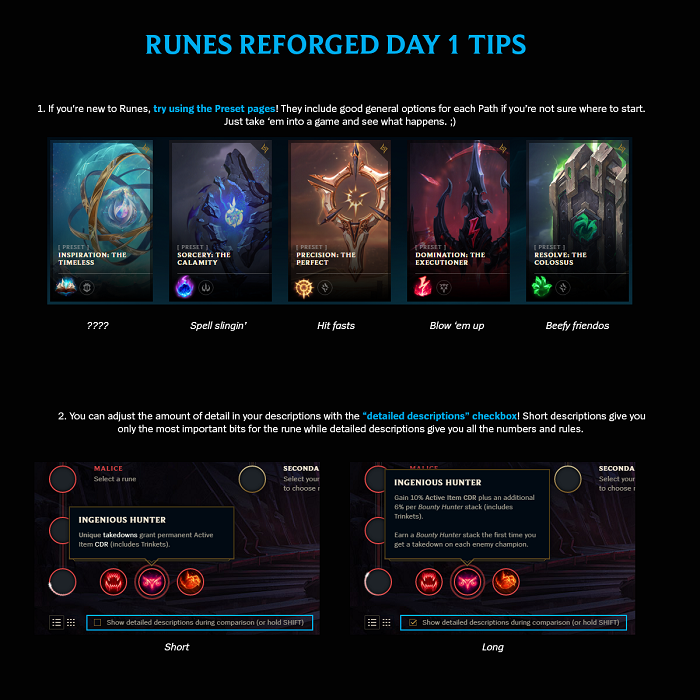 League of Legends Rune Infographic
