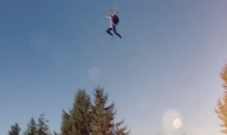 supergirl leaping