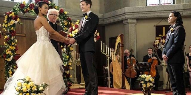 the flash west allen wedding